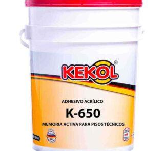 ADHESIVO CON MEMORIA ACTIVA PARA PISOS TÉCNICOS K-650